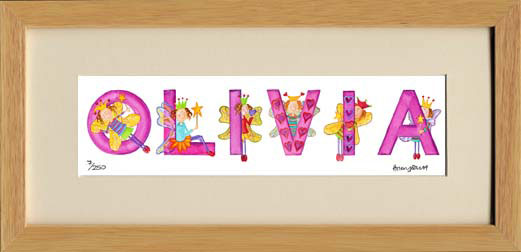 Fairy Personalised Name Print