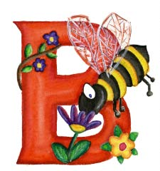 Letter Prints B - Bee