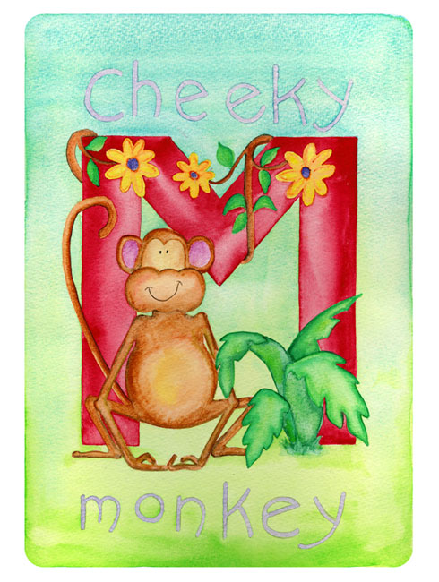 Cheeky Monkey Poster